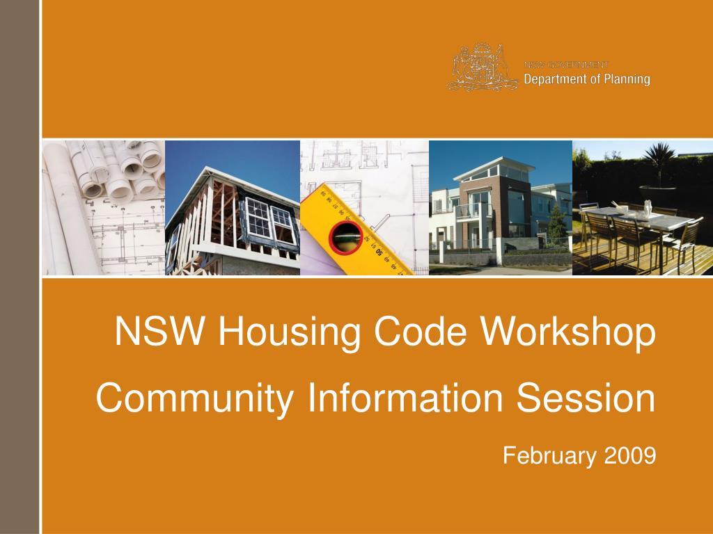 NSW Housing Code Workshop