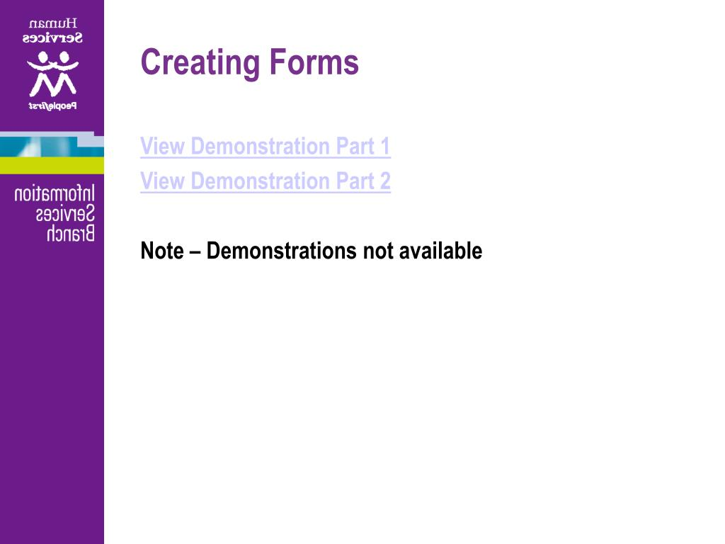 Creating Forms