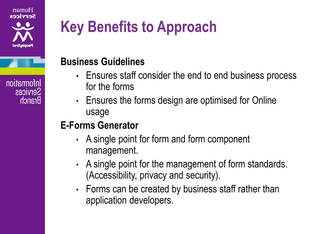 Key Benefits to Approach