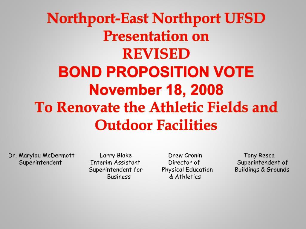Northport-East Northport UFSD Presentation on