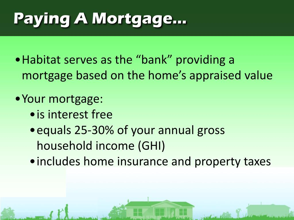 Paying A Mortgage...