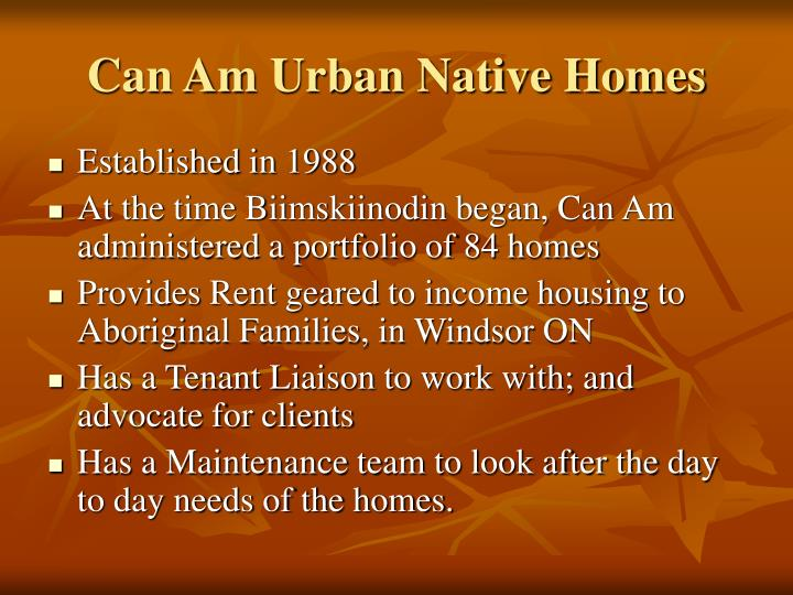 Can am urban native homes