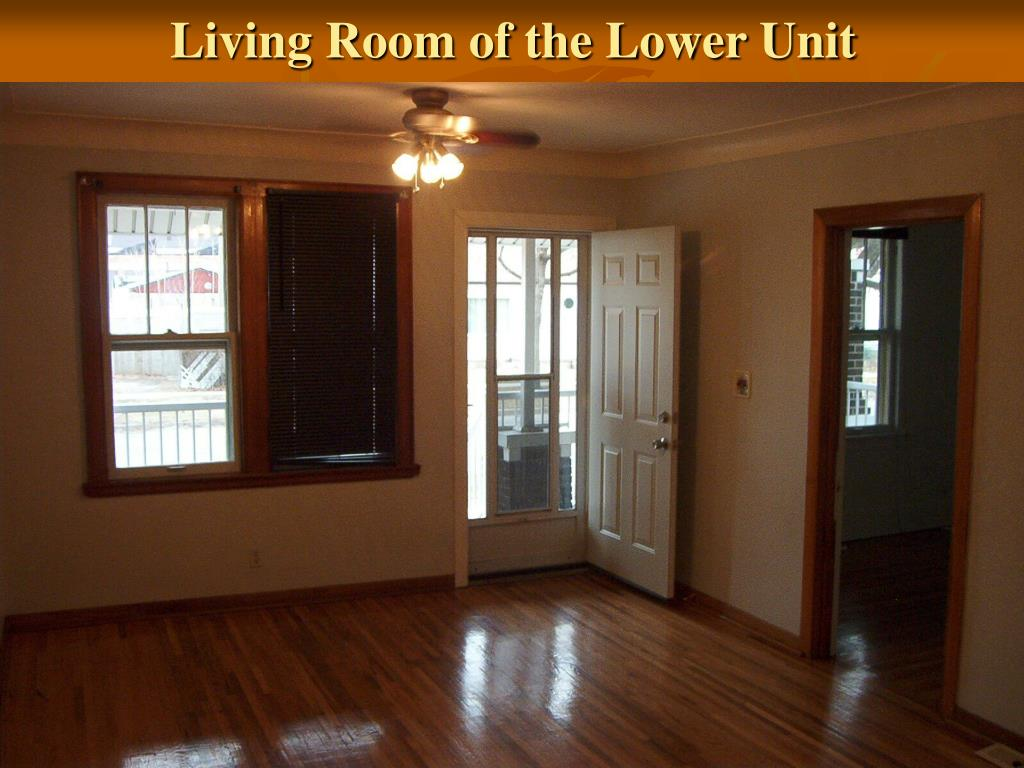 Living Room of the Lower Unit