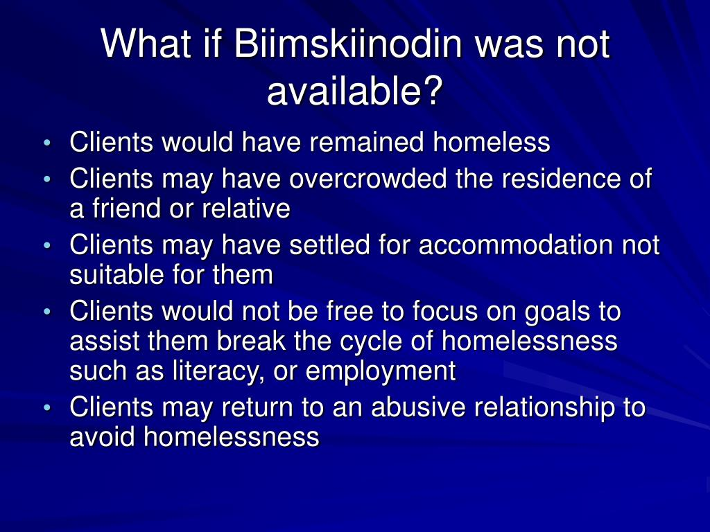 What if Biimskiinodin was not available?