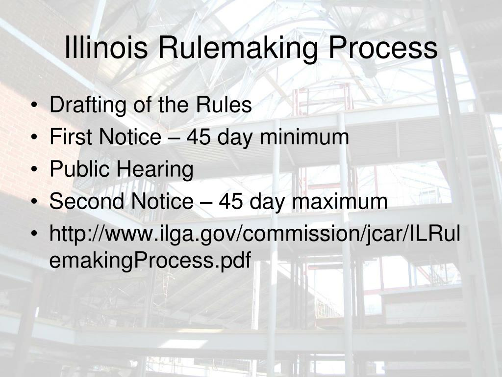 Illinois Rulemaking Process