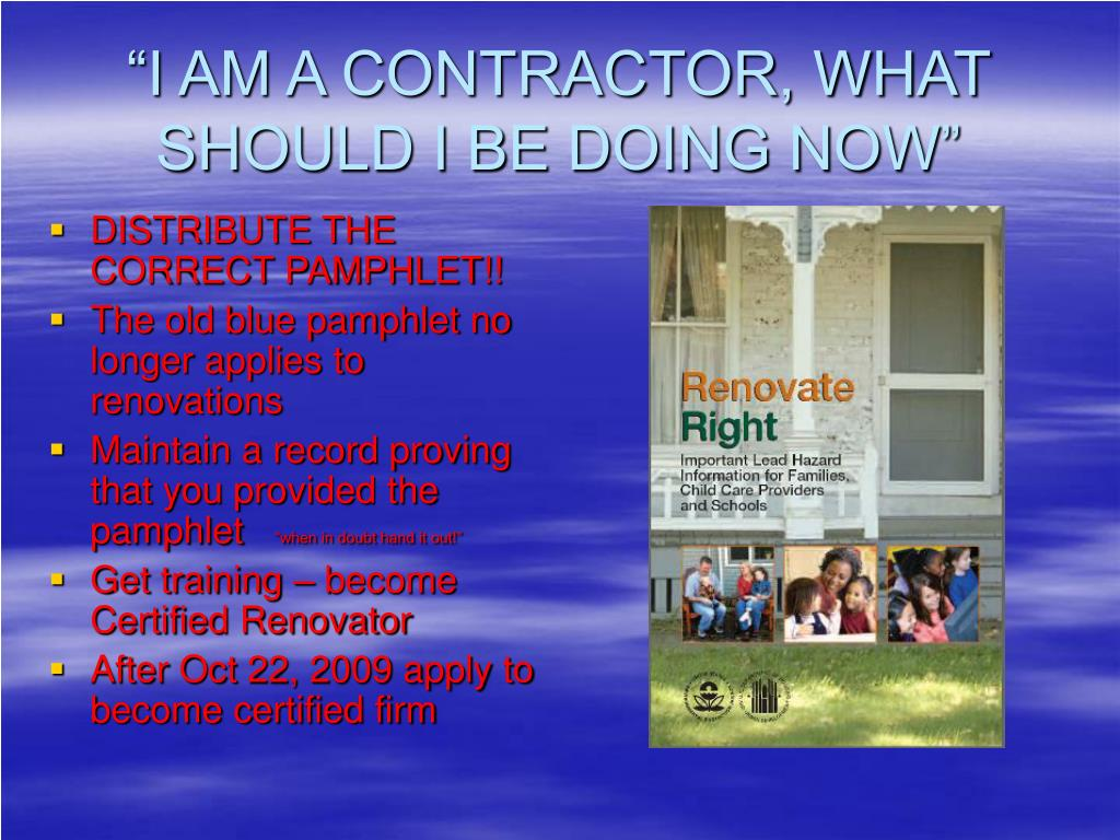 """I AM A CONTRACTOR, WHAT SHOULD I BE DOING NOW"""