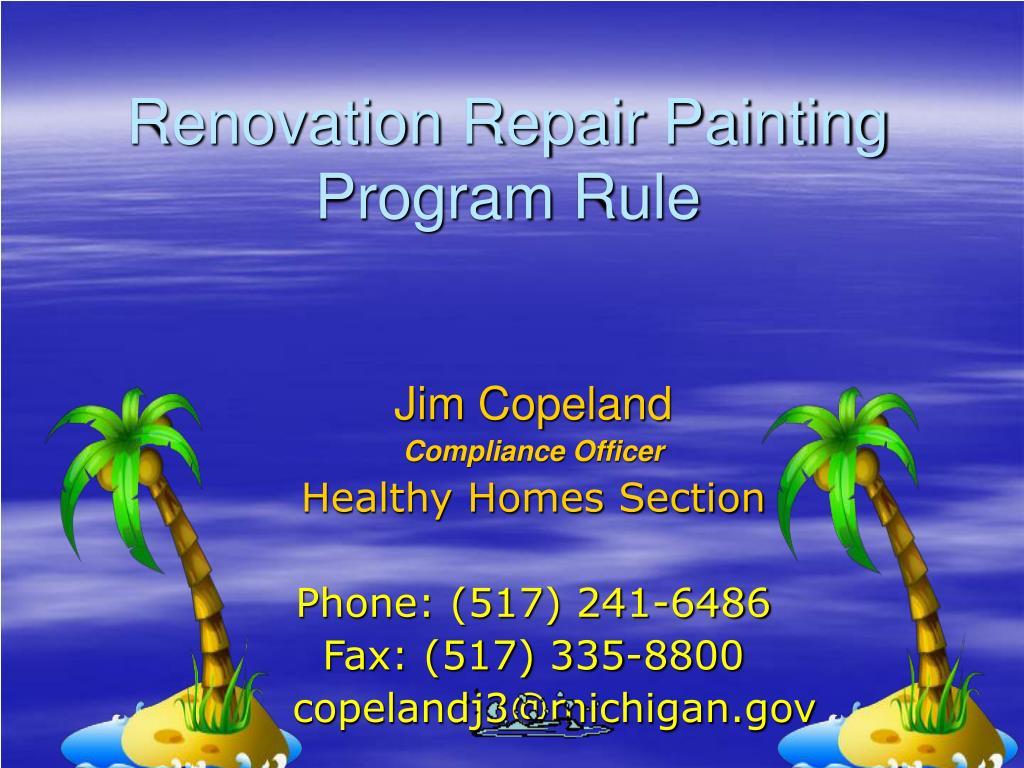 renovation repair painting program rule