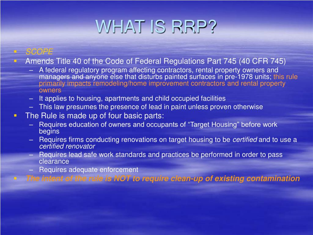 WHAT IS RRP?