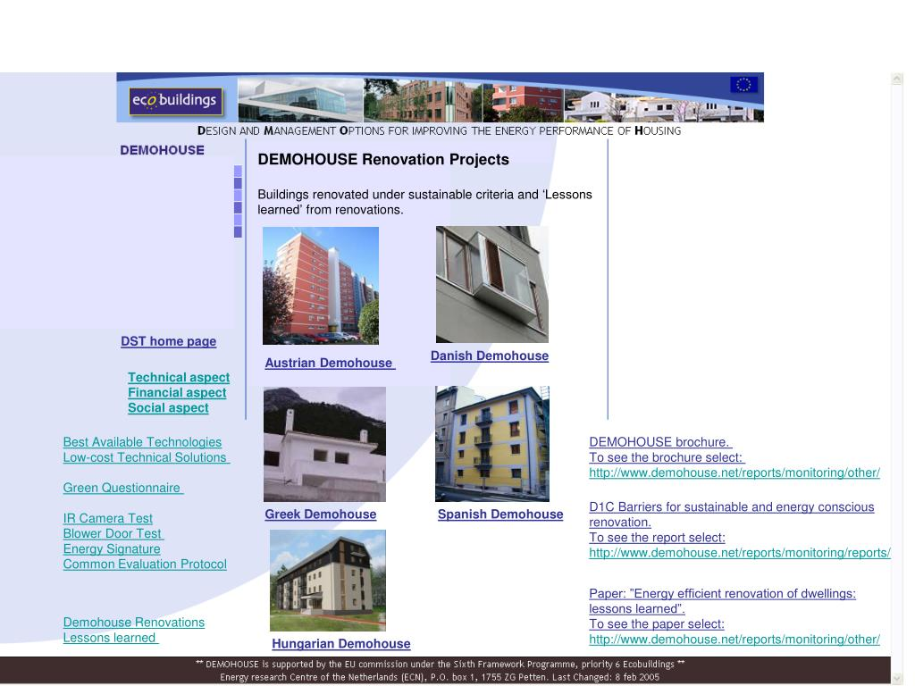 DEMOHOUSE Renovation Projects