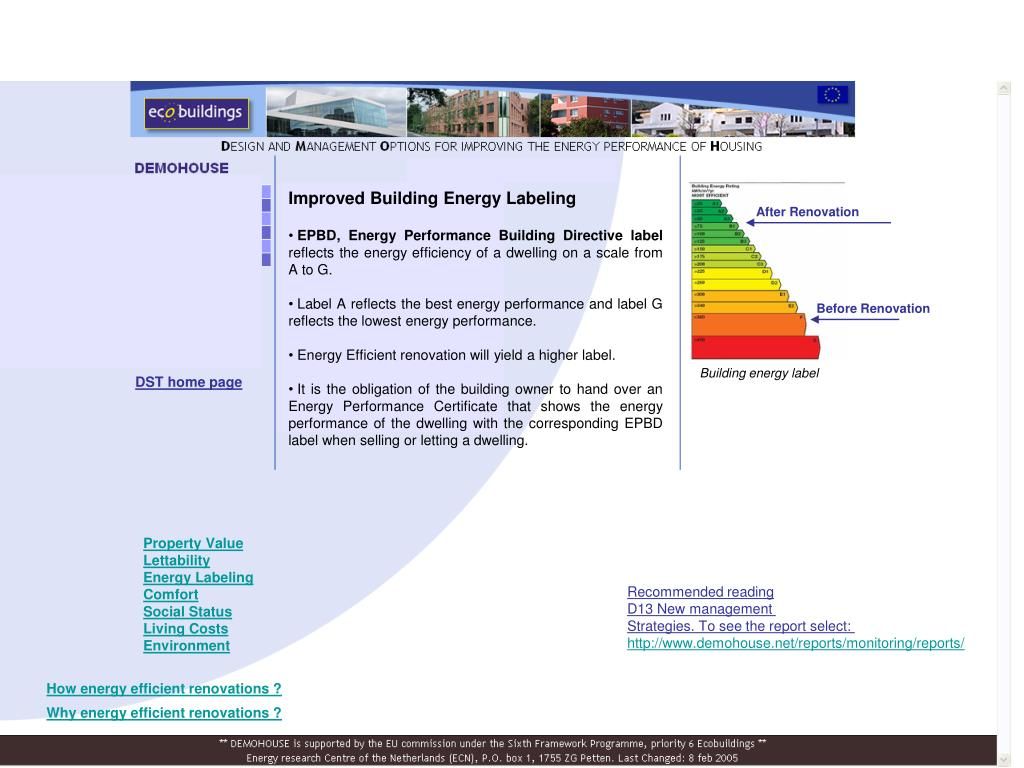 Improved Building Energy Labeling