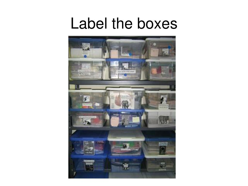 Label the boxes
