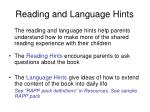 reading and language hints