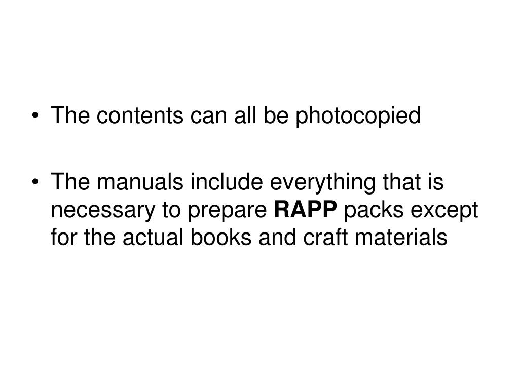 The contents can all be photocopied