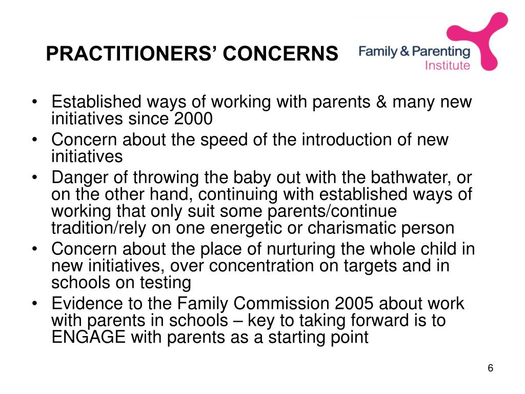 PRACTITIONERS' CONCERNS