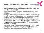 practitioners concerns