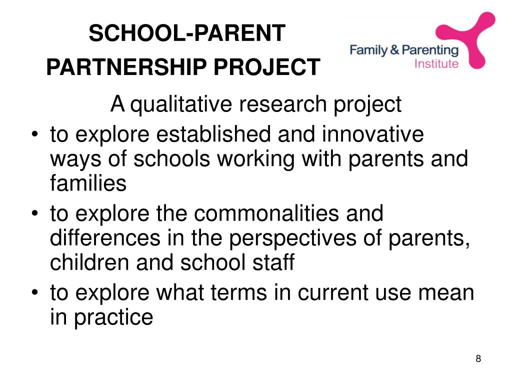 SCHOOL-PARENT PARTNERSHIP PROJECT