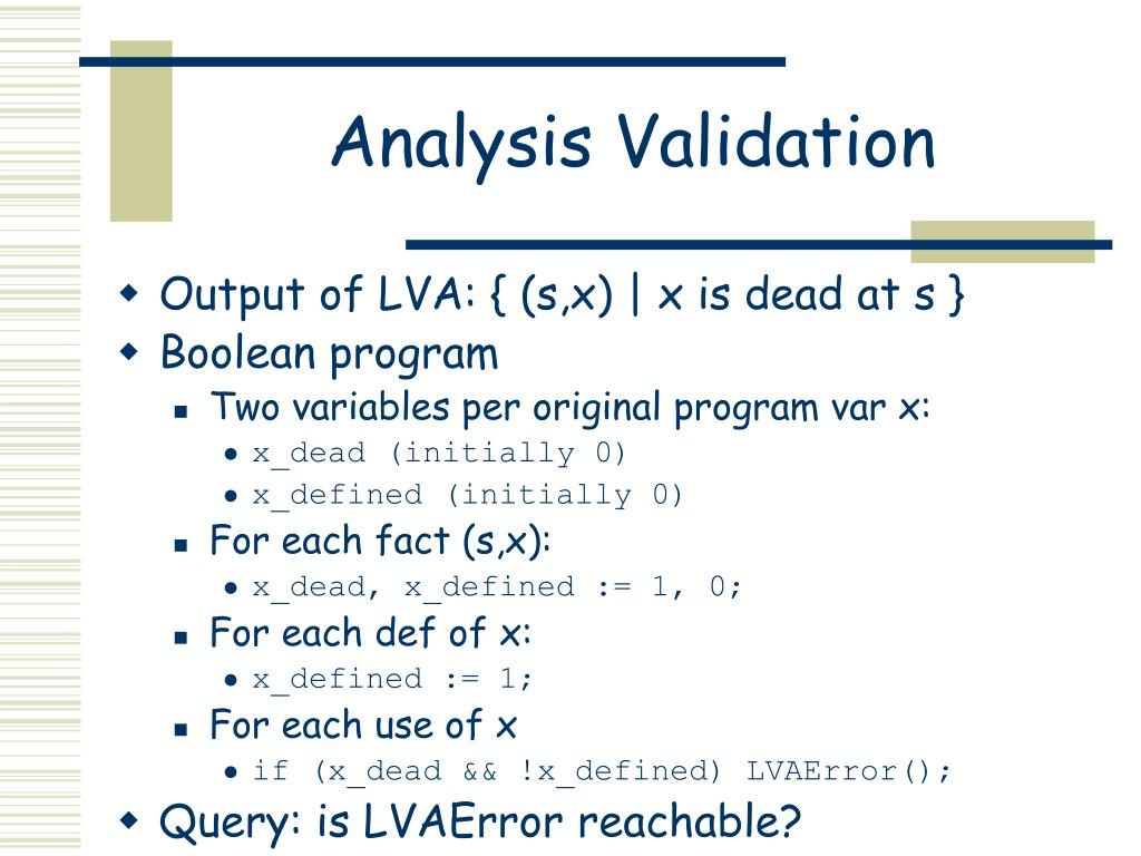 Analysis Validation