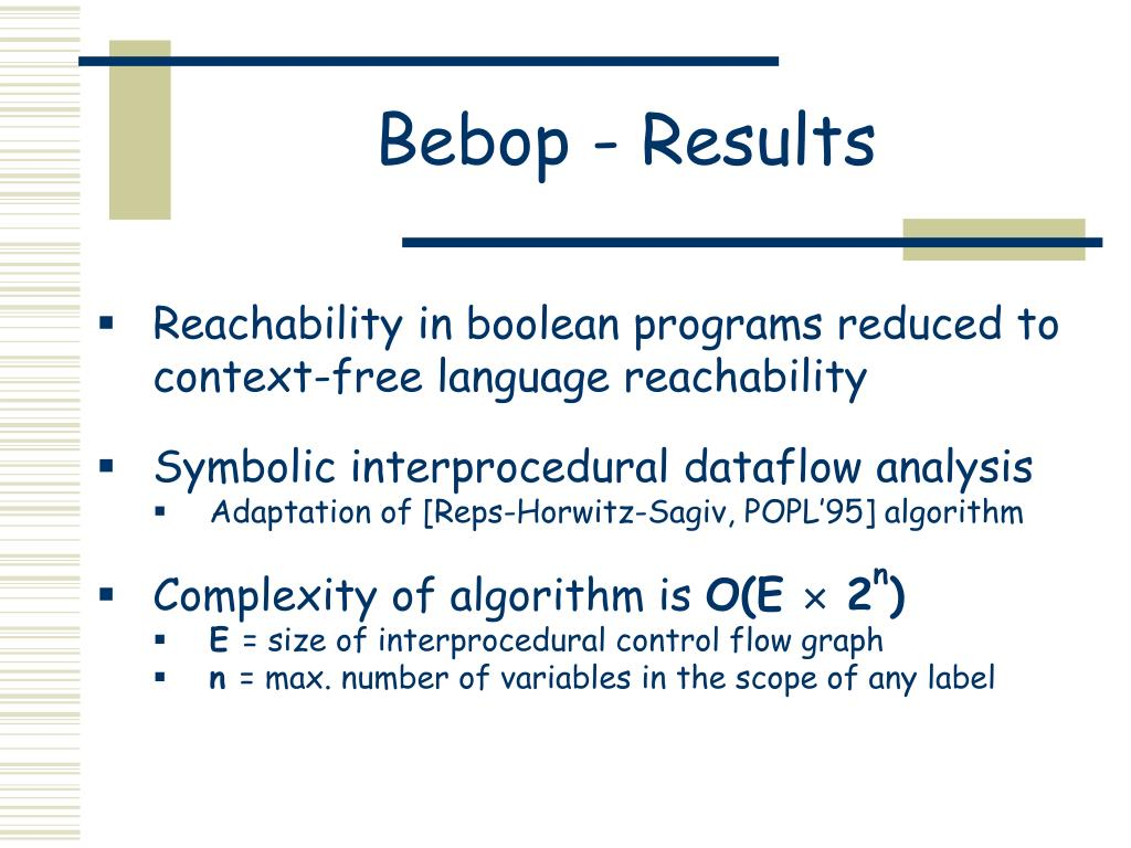 Bebop - Results