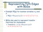 representing path edges with bdds