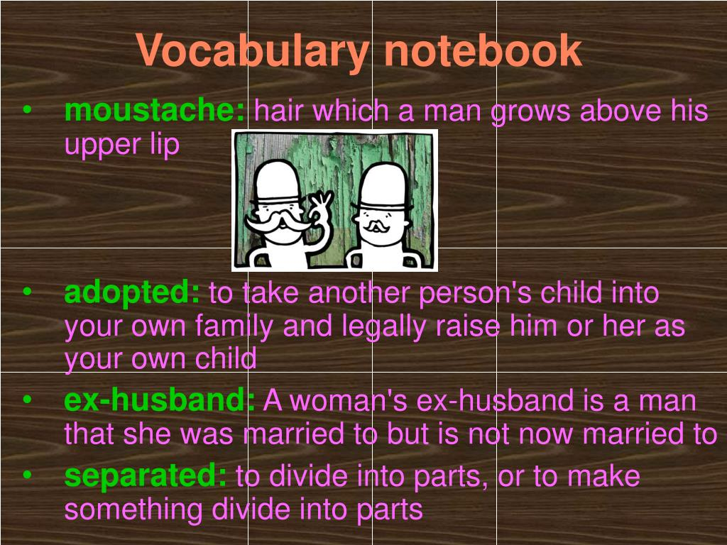 Vocabulary notebook