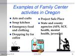 examples of family center activities in oregon10