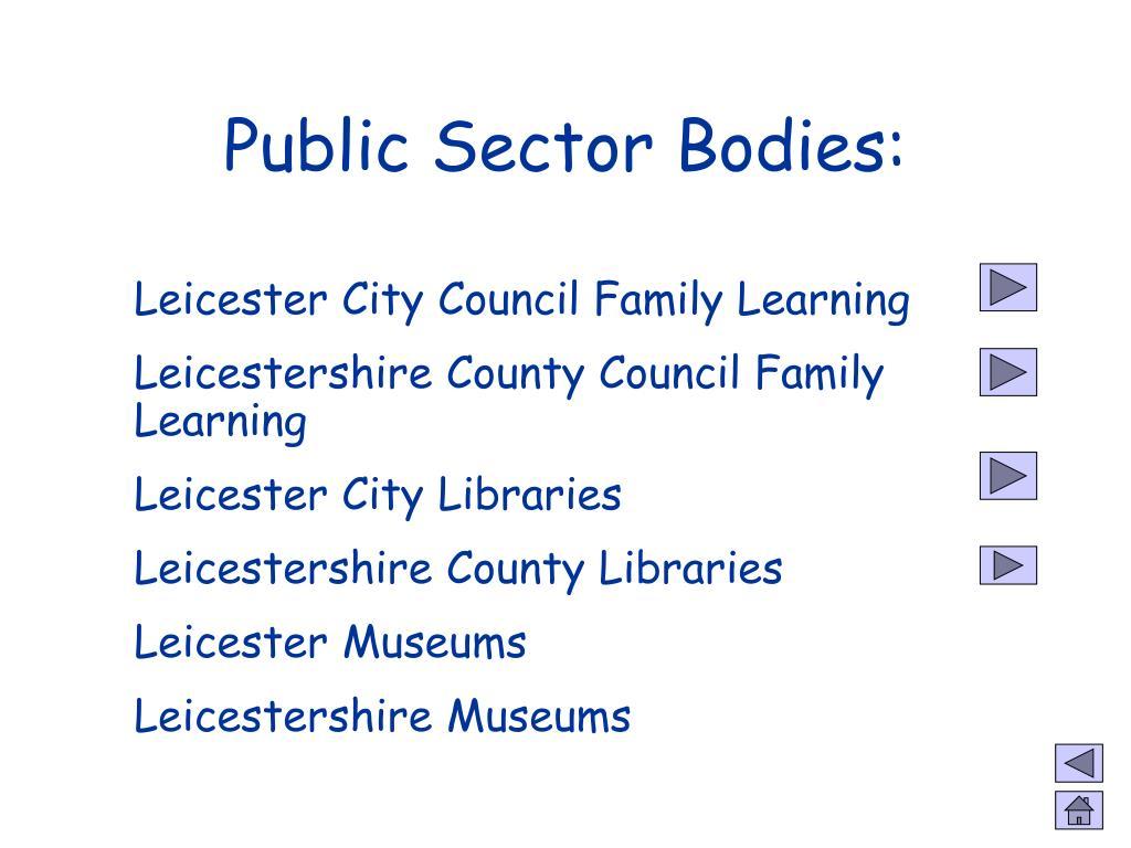 Public Sector Bodies:
