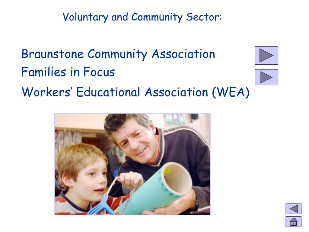 Voluntary and Community Sector: