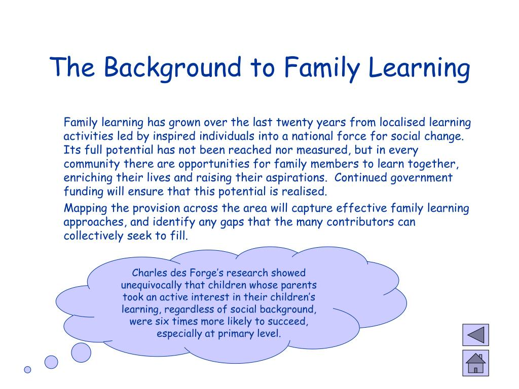 The Background to Family Learning