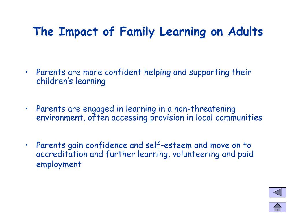 The Impact of Family Learning on Adults