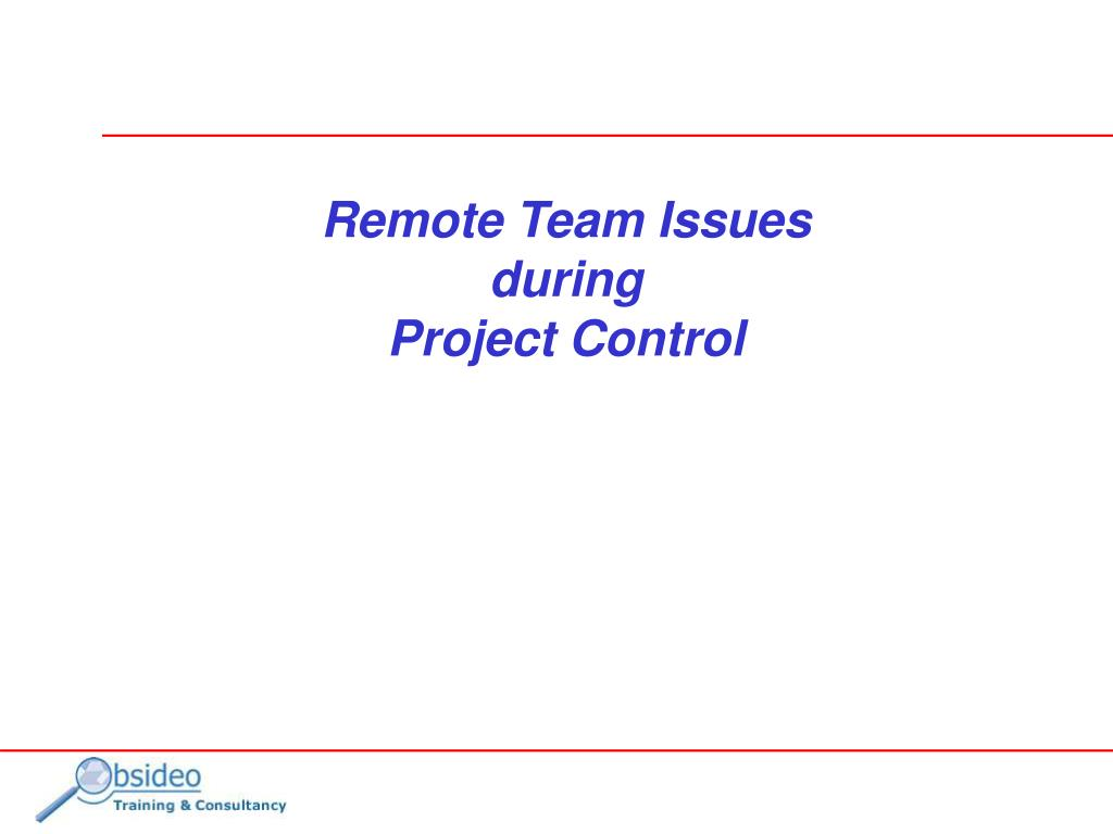 Remote Team Issues