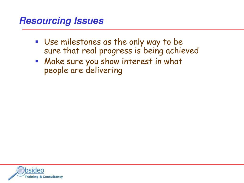 Resourcing Issues