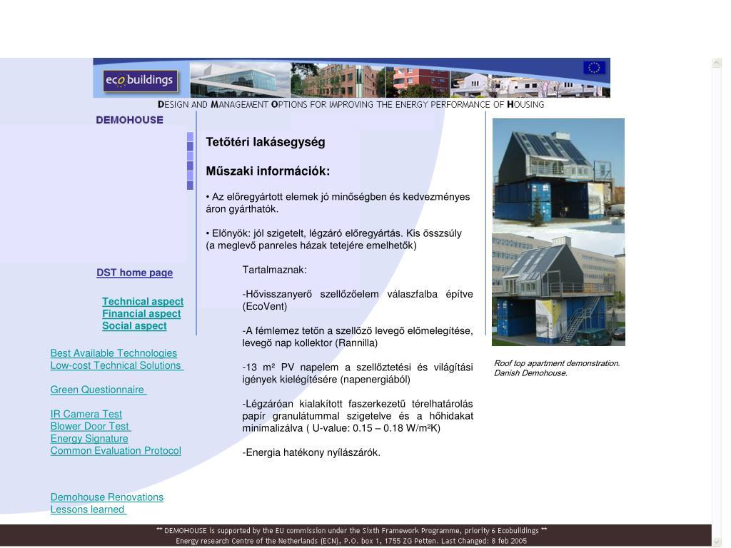 Tetőtéri lakásegység