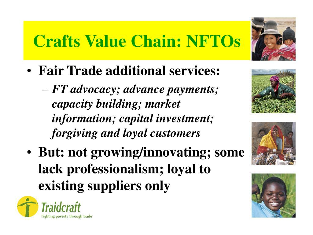Crafts Value Chain: NFTOs