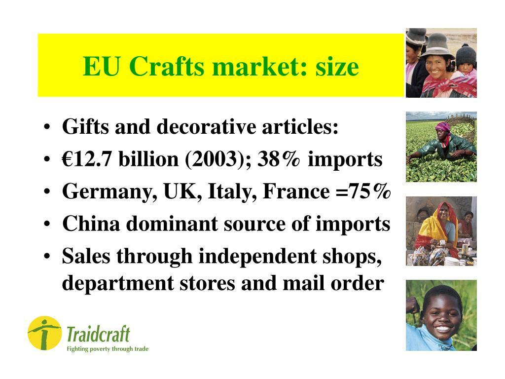 EU Crafts market: size