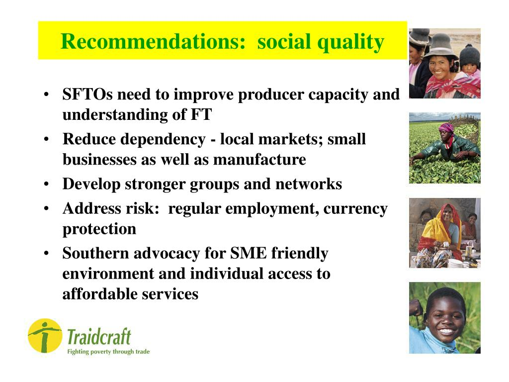 Recommendations:  social quality