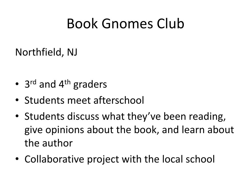 Book Gnomes Club
