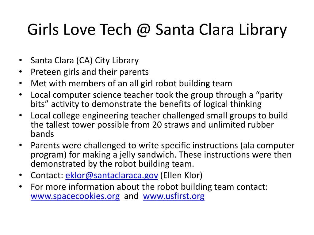 Girls Love Tech @ Santa Clara Library