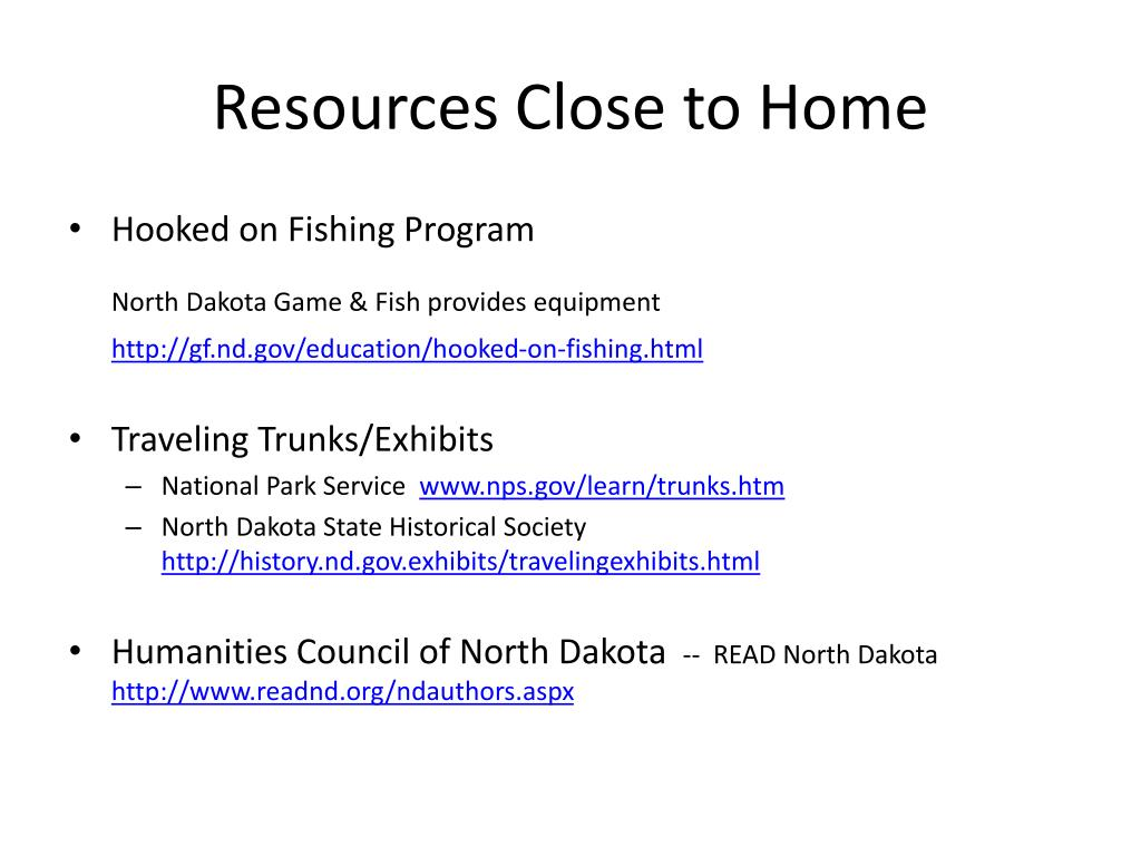 Resources Close to Home