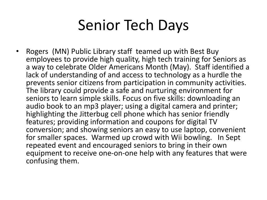 Senior Tech Days