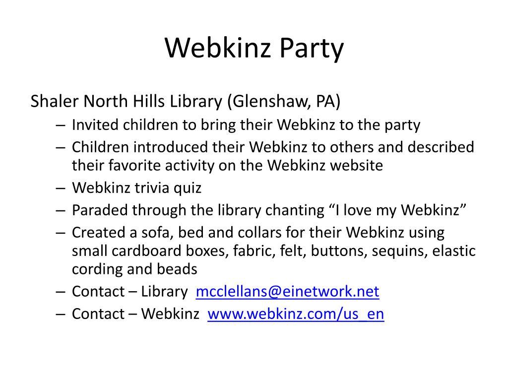 Webkinz Party