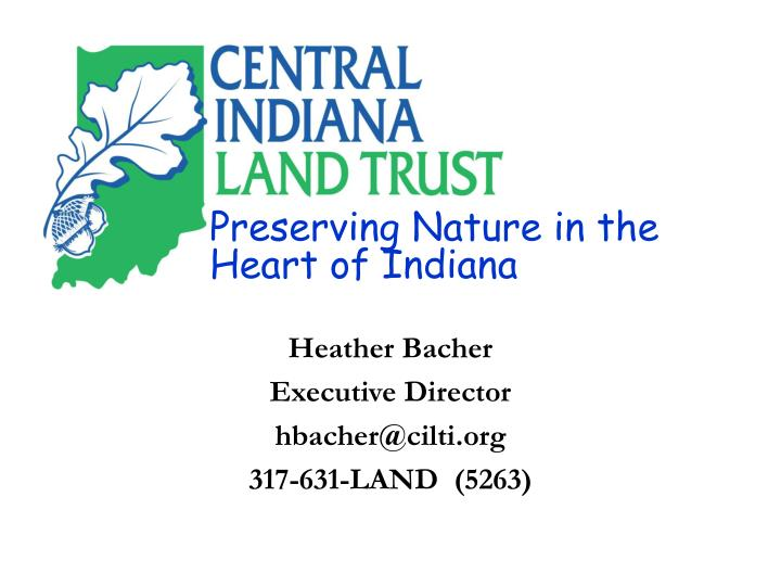 Preserving Nature in the Heart of Indiana