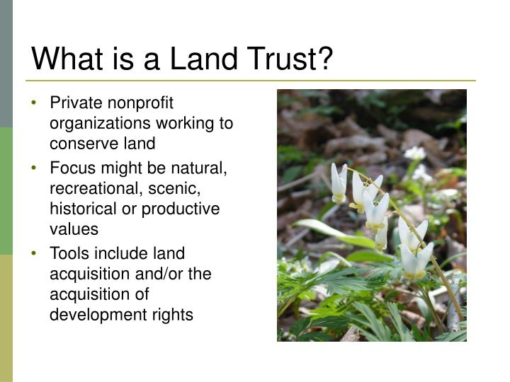 What is a land trust