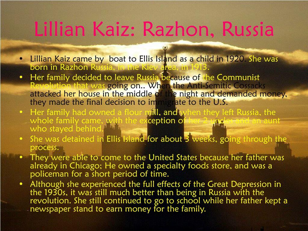 Lillian Kaiz: Razhon, Russia