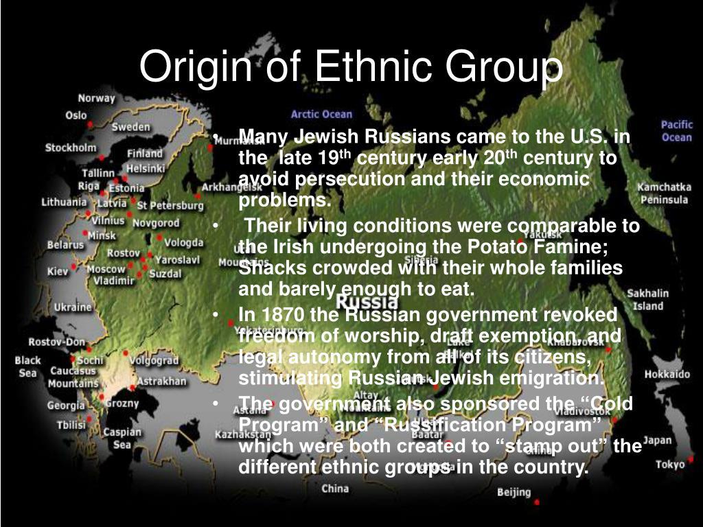 Origin of Ethnic Group