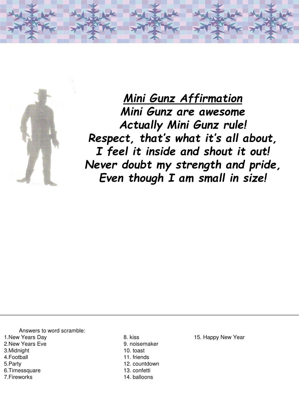 Mini Gunz Affirmation