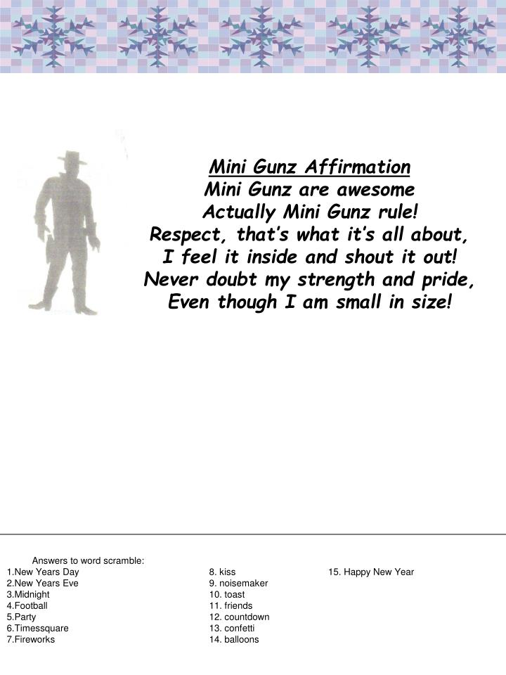 Mini Gunz Affirmation