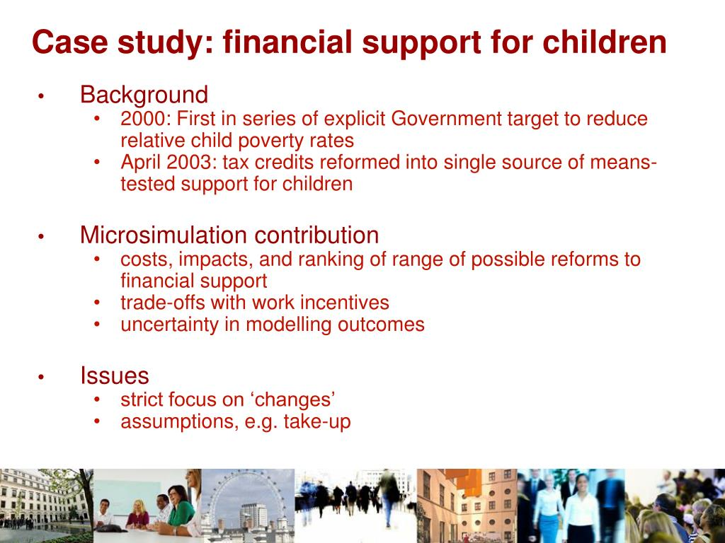 Case study: financial support for children