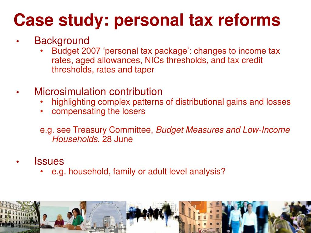 Case study: personal tax reforms