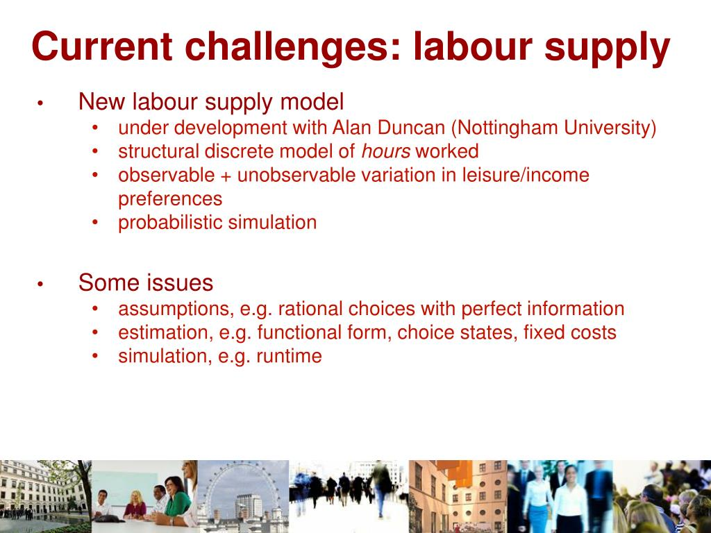 Current challenges: labour supply