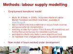 methods labour supply modelling